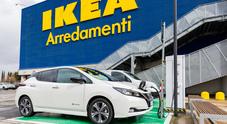 Nissan e Ikea d'accordo sulla mobilità elettrica. Arriva la colonnina rapida anche allo store Anagnina di Roma