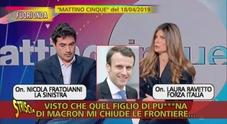 Striscia la Notizia, fuori onda di Laura Ravetto: «Quel figlio di pu***na di Macron»