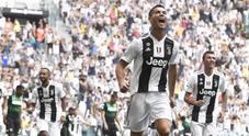 Ronaldo si sblocca: doppietta al Sassuolo