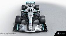 F1, ecco la nuova Mercedes W10. Hamilton: «Sono entusiasta». Wolff: «Ripartiamo da zero»