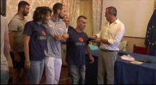 Napoli, de Magistris incontra le squadre del Sitting Volley napoletano