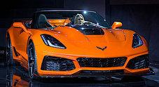 La Corvette scoperta più potente di sempre svelata a Los Angeles. La ZR1 Convertible ha sotto al cofano un benzina 6.2 da 755 cv