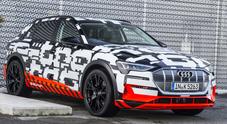 Audi e-tron, 30 minuti per un pieno di elettricità e 400 km di autonomia