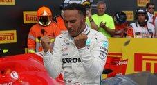 F1, Hamilton re di Francia torna n.1, la Ferrari limita danni. Sul podio Raikkonen, Vettel 5°