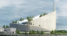A Copenhagen nasce l'Amager Bakke: l'inceneritore con piste da sci, parco e parete per l'arrampicata /GUARDA