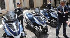 Moto Bmw 1200 e Piaggio MP3 per i vigili di Roma Capitale