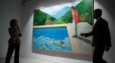 """Portrait of an artist"" di Hockney"