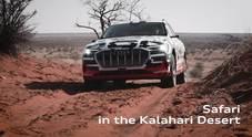 Audi e-tron, il test mozzafiato nel deserto della Namibia