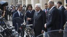 Piaggio, le nuove Moto Guzzi California 1400 al Quirinale dal Presidente Mattarella