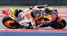 Gp di Austin, la pole è di Marquez: Rossi ottimo secondo, Ducati flop