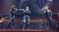 Max, Renga e Nek, in concerto insieme