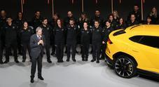 Il premier: «Da ragazzo guidavo una 500 ma sognavo la Miura. La storia Lamborghini ci coinvolge tutti, ne siamo orgogliosi»