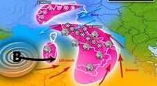 Meteo, Italia nell'occhio del ciclone. Burian porta temporali, grandine e neve