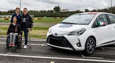 Toyota Driving Academy e Bebe Vio, primo corso di guida per disabili su auto elettrificate