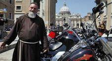 "Le Harley Davidson ""invadono"" San Pietro: 200 biker a messa"