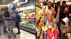 Fedez, festa a sorpresa in un supermercato organizzata da Chiara Ferragni