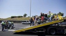 Maxi-incidente al raduno Harley a Roma  grave una 23enne italiana, otto feriti coinvolte dieci motociclette
