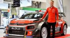 WRC, Ostberg nel Rally di Svezia al volante della Citroen C3