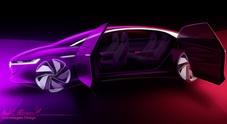 Volkswagen Vizzion, concept con guida autonoma e senza volante. A Ginevra 4° esemplare elettrico della famiglia I.D.