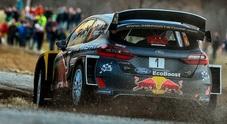 WRC, la Ford di Ogier in testa a Montecarlo. Precede le due Hyundai di Mikkelsen e Sordo
