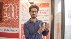 Pasquale Longo con il suo dispositivo Powahome (foto Davide Fracassi/Ag.Toiati)