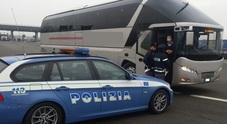 Gite scolastiche, in 3 anni 60mila bus controllati da Polizia. 8.403 i veicoli con irregolarità