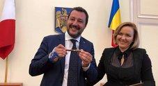 Salvini incontra a Bucarest la collega titolare degli Interni  Carmen Dan
