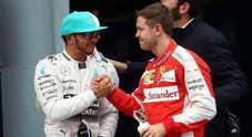 Hamilton fa i complimenti: «Vettel troppo veloce»