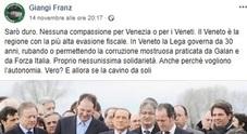 Post choc contro Venezia allagata e i veneziani. Il prof rischia il posto