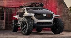 A.I. l'inarrestabile. Audi presenta il prototipo di un off-road a guida autonoma con 4 motori elettrici e droni