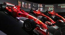 """Schumacher, tifosi da tutto il mondo a Maranello per l'apertura della mostra """"Michael 50"""""""
