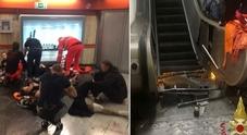 Roma, cede scala mobile metro Repubblica: 16 feriti, coinvolti tifosi del Cska. «Incastrati tra le lamiere»