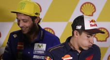 """Sepang, duello Rossi-Marquez un anno dopo: """"Identiche idee"""", Valentino: """"Sono d'accordo"""""""
