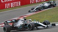 Gp Cina, trionfa Hamilton davanti a Bottas e Vettel: la Ferrari di Leclerc chiude quinta Video