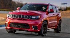 Grand Cherokee Trackhawk, a Ginevra la Jeep più potente di sempre: un bolide da 700 cv