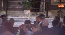 Funerali Maria Sensi, l'abbraccio tra De Rossi e la figlia Rosella