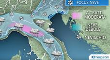 Due perturbazioni in arrivo: neve anche a quote basse, a rischio Verona e Vicenza