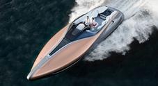 Ancora più Lexus: emozioni del lusso. Da spettacolo uno yacht da favola e un'auto del futuro