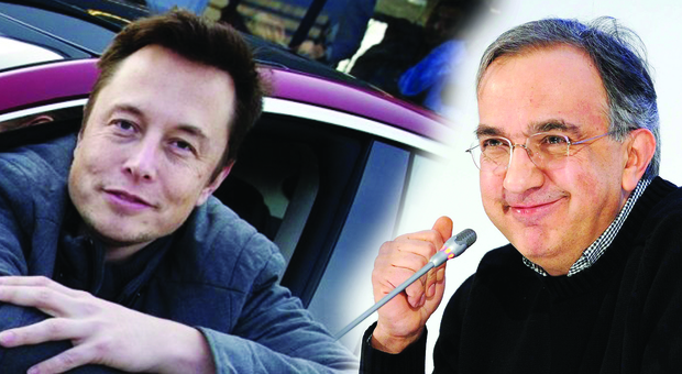 Elon Musk e Sergio Marchionne