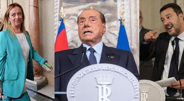 Meloni, Berlusconi, Salvini