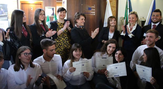 la cerimonia all'Istituto Alberghiero