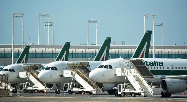 Aerei dell'Alitalia a Fiumicino