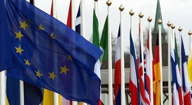 Bandiera dell'Europa a Bruxelles
