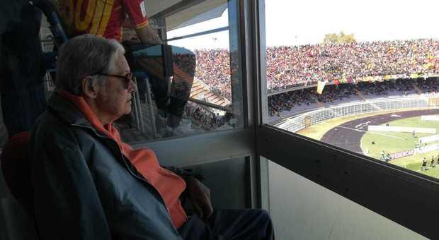 Giovanni Semeraro allo stadio (Foto: Stefano Lopetrone)