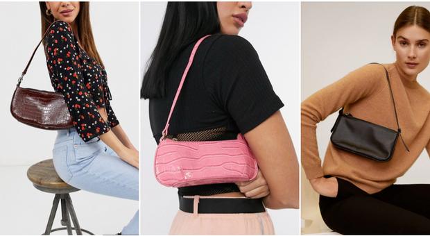 La borsa anni '90 torna a fare tendenza, la baguetta da portare in spalla è must have: ecco come indossarla