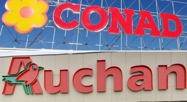 Conad rileva i supermercati e negozi Auchan in Italia