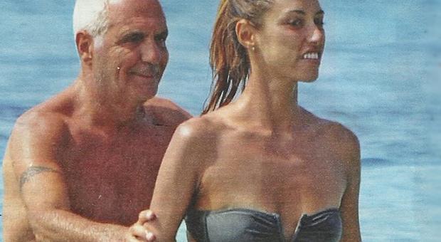 Giorgio Panariello e la fidanzata Claudia Maria Capellini in vacanza a Formentera