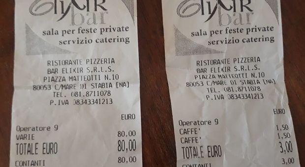 Scontrino fiscale da 80 euro per nove caffè al consigliere regionale campano: «Ladri autorizzati»