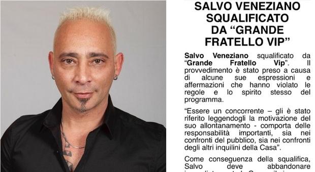 Salvo Veneziano espulso dal Grande Fratello Vip 2020: ecco la decisione