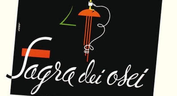 Il manifesto della Sagra dei Osei di Sacile firmato da Giovanni Doretto